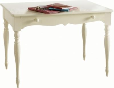 Table écritoire Lola laquée blanc cassé sans surmeuble pour 389€