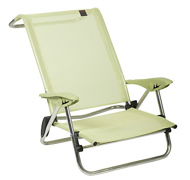 chaise basse pliante en aluminium beachelips coloris kiwi lafuma. Black Bedroom Furniture Sets. Home Design Ideas