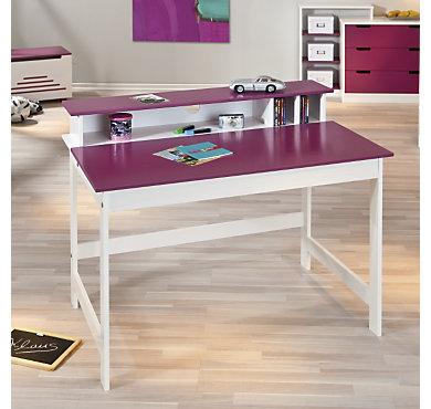 bureau igloo blanc fushia. Black Bedroom Furniture Sets. Home Design Ideas
