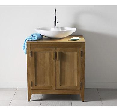 Le meuble pour vasque poser bahia largeur 75 cm naturel - Meuble pour poser vasque ...