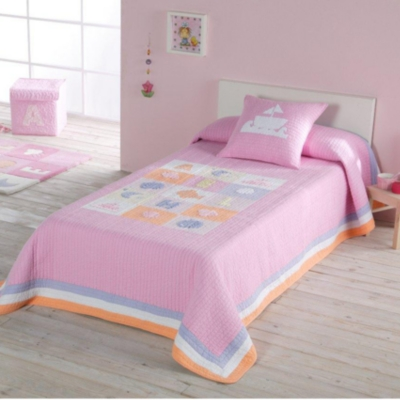 Couvre lits et coussins enfant linge de maison - Lit pour fille advertentie o ...