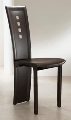 Lot de 2 chaises cuir Clea 2 pieds, avec motif dos pour 499€