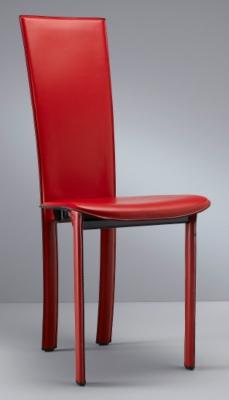 Lot de 2 chaises cuir Clea 4 pieds, sans motif dos pour 469€