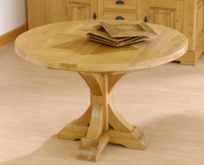 Tables repas 21 - Table ronde rallonge pied central ...