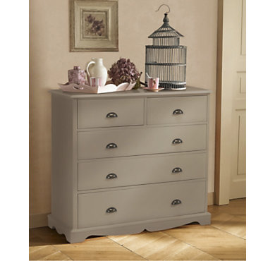 Commode 5 tiroirs hastings taupe - Camif commode ...