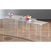 Lot de 3 tables gigognes Cristaline Altuglas ...
