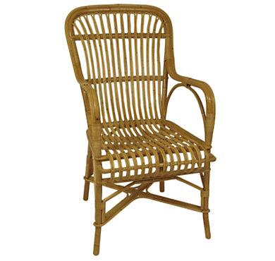 fauteuil rotin drucker rousseau dossier haut. Black Bedroom Furniture Sets. Home Design Ideas