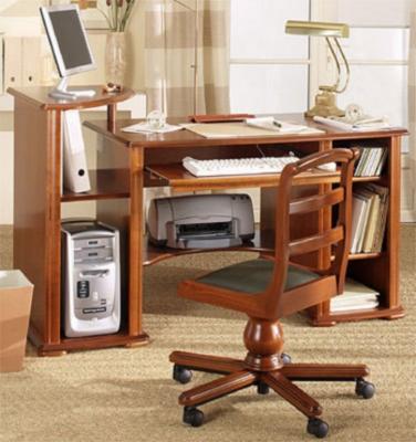 bureau informatique avec tablette d 39 angle flore. Black Bedroom Furniture Sets. Home Design Ideas