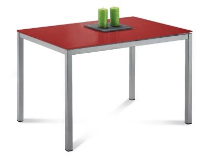 Table verre rouge - Table de cuisine rouge ...