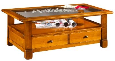 La table basse dessus verre Héritage finition antiquaire pour 896€