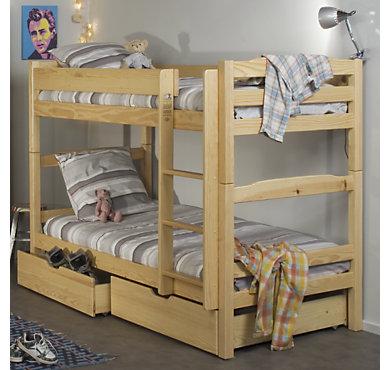lits superpos s 2 tiroirs iris naturel. Black Bedroom Furniture Sets. Home Design Ideas
