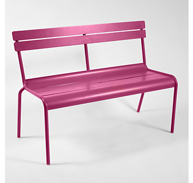 banc fermob luxembourg avec dossier. Black Bedroom Furniture Sets. Home Design Ideas