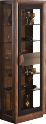 Argentier noyer/laque brune Mathis pour 1435€