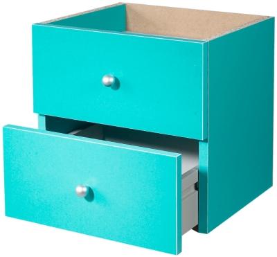 Lot de 2 tiroirs Multicases coloris bleu pour 40€