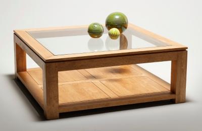 Meubles tables basses 15 for Table de salon carree en bois