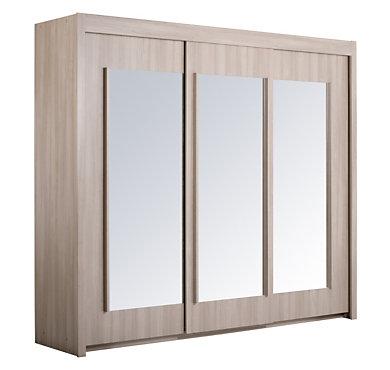 Armoire ph nix 3 portes coulissantes largeur 250 cm - Largeur porte coulissante ...