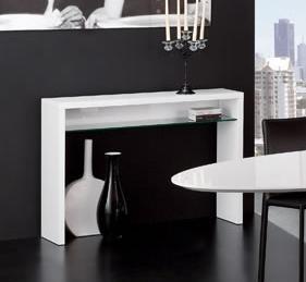 Console Laque Blanc Fabulous Elegant Good Bureau Console Laqu Blanc