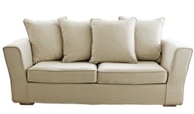 Canapé tissu A bâchette dos jetés pour 596€