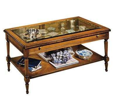 table basse vitrine rectangulaire menton. Black Bedroom Furniture Sets. Home Design Ideas