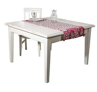 Table carrée 1 allonge Harmonie