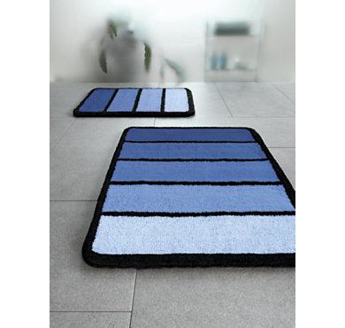 Tapis de bains mirage 60 x 90 cm coloris bleu - Tapis camif ...