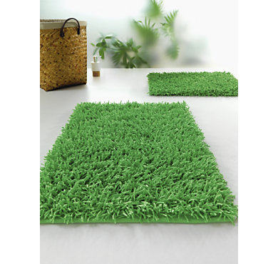 Tapis de bains country 60 x 90 cm coloris vert - Tapis camif ...