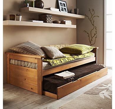lit gigogne web teint miel. Black Bedroom Furniture Sets. Home Design Ideas