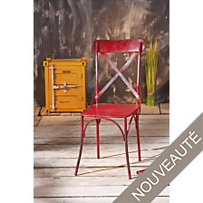 Lot de 2 chaises Vintage, rouge
