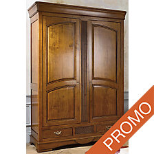 Armoire Margot 2 portes noyer