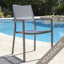 Lot de 2 fauteuils empilables Florence, alumi...