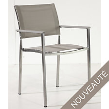 Lot de 2 fauteuils Vintage inox/textilène co...