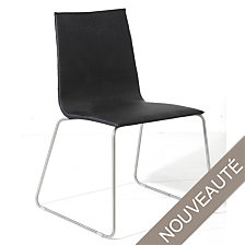 Lot de 4 chaises empilables Verone , Alu/Tex...