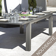 Table OCEO Aurore 210/310 x 110 cm, aluminium...