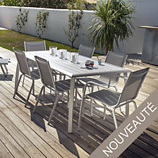 Table Azuro aluminium 225 x 100 cm, coloris a...