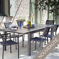 Table Milano, aluminium 180/240 x 100 cm ,ave...