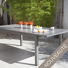 Table OCEO Turin, aluminium 220/300 x 110 cm