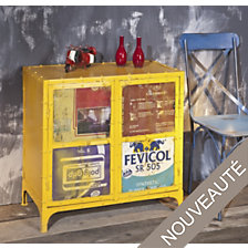 Commode 2 portes Vintage coloris jaune