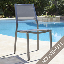 Lot de 2 chaises empilables Florence, alumini...