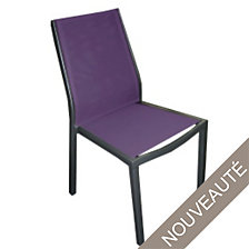 Lot de 2 chaises empilables OCEO Flore alumin...