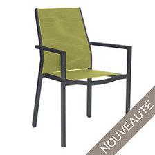 Lot de 2 fauteuils empilables OCEO Flore alum...