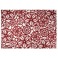 Tapis Society Circle ESPRIT HOME, rouge