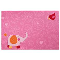 Tapis Happy Zoo Elephant SIGIKID, rose