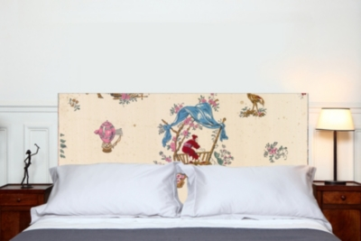 Tête de lit Chinoiseries MADEMOISELLE TISS. Composition : belle toile épaisse, 100 % polyester mat, effet coton natté, 300 g / m&s
