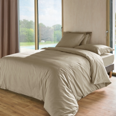 Taie de traversin percale Royal ESSIX HOME. Composition : toile dexception en pure percale de coton peigné au tissage extrêmement fin et