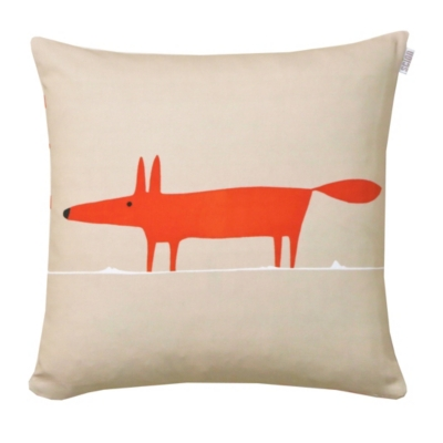 coussin mr fox scion living mandarine literie en ligne. Black Bedroom Furniture Sets. Home Design Ideas