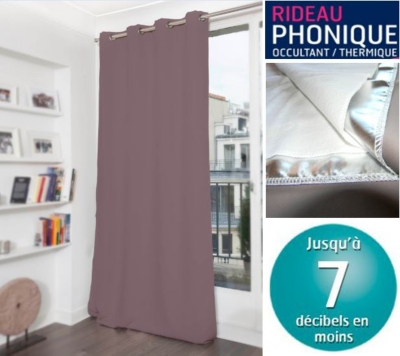 rideau phonique occultant thermique moondream literie en ligne. Black Bedroom Furniture Sets. Home Design Ideas