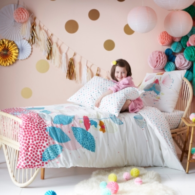 drap housse jardin imaginaire catimini literie en ligne. Black Bedroom Furniture Sets. Home Design Ideas