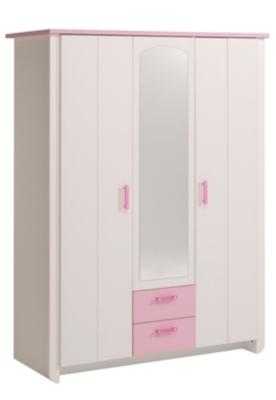 Armoire 3 portes Candice rose, Structure en panneaux de particules. Décor... par LeGuide.com Publicité