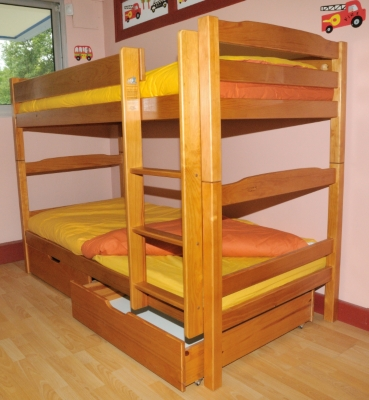 Promotion lits superpos s et lot de 2 tiroirs iris 90 x - Fabriquer des lits superposes ...