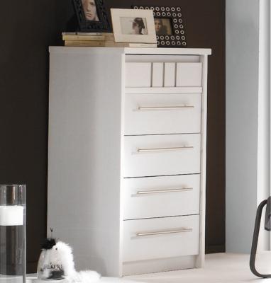 Chiffonnier 5 tiroirs Mareva blanc pour 945€